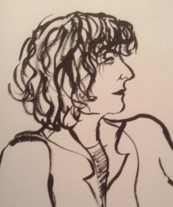 Me by Ruth Radcliffe, drawn at The Drawing Factory, Barber Institute